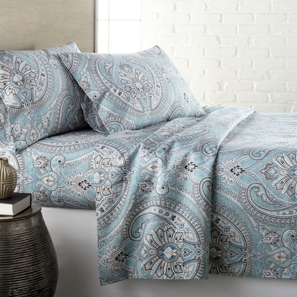 Vilano Deep Pocket Ultra-Soft Pure Melody 4-piece Paisley Sheet Set