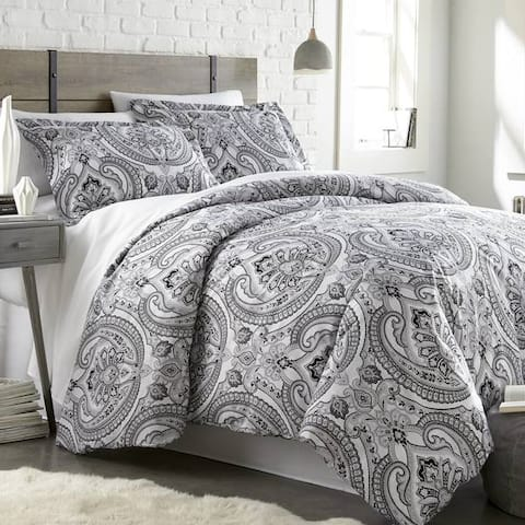 Vilano Premium Ultra-Soft Pure Melody Paisley Duvet Cover and Sham Set
