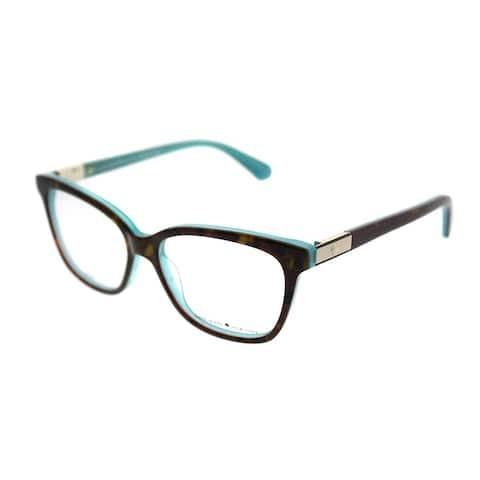 Kate Spade Square KS Jorja FZL Women Havana Turquoise Frame Eyeglasses