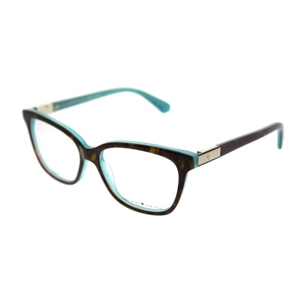 Shop Kate Spade Square Ks Jorja Fzl Women Havana Turquoise Frame