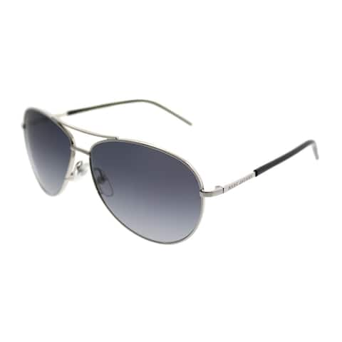 Marc Jacobs Aviator Marc 59 84J HD Unisex Palladium Black Frame Grey Gradient Lens Sunglasses