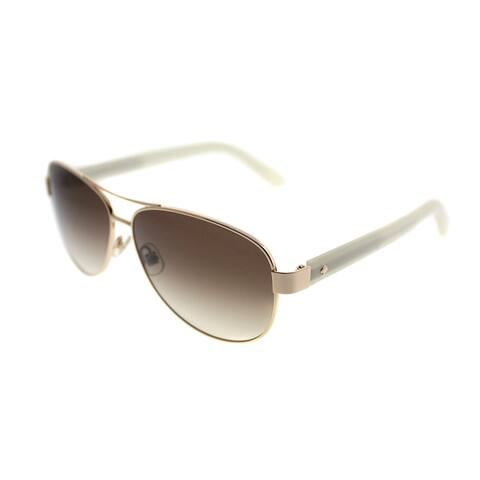e2fab159d4f8 Kate Spade Aviator KS Dalia2 J5G Women Gold Frame Brown Gradient Lens  Sunglasses