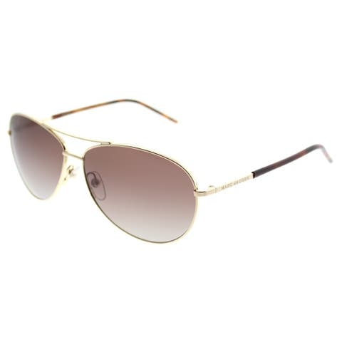 5eae12c10caa Marc Jacobs Aviator Marc 59 TAV LA Unisex Gold Frame Brown Gradient  Polarized Lens Sunglasses