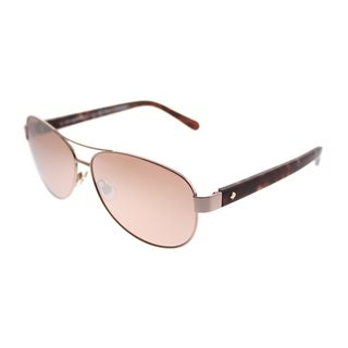 Kate Spade Aviator KS Dalia2 AU2 Women Rose Gold Frame Rose Mirror Lens Sunglasses