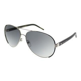 Marc Jacobs Aviator Marc 66 UUV VK Unisex Palladium Shiny Black Frame Grey Gradient Lens Sunglasses