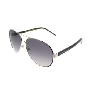 Marc Jacobs Aviator Marc 66 UUV WJ Unisex Palladium Shiny Black Frame Grey Gradient Polarized Lens Sunglasses