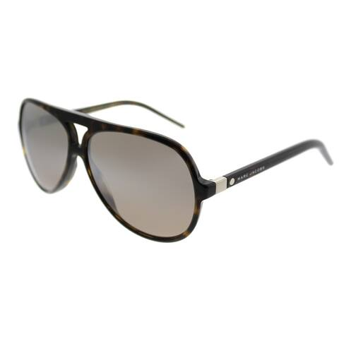 374b15517acb Marc Jacobs Aviator Marc 70 086 Unisex Dark Havana Frame Brown Mirror Lens  Sunglasses