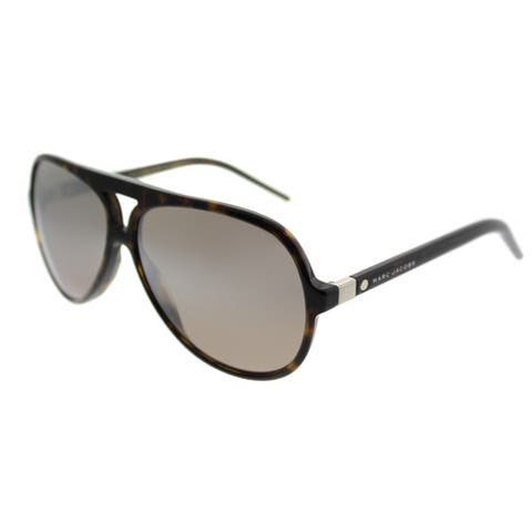 73e41a3b1f54 Marc Jacobs Aviator Marc 70 086 Unisex Dark Havana Frame Brown Mirror Lens  Sunglasses