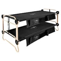 Extra Large Black Disc-O-Bed with 2 Side Organizers