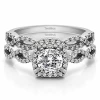 TwoBirch Bridal Set (Two Rings) in 10k Gold and Diamonds (G,I2) (1.18 tw) - Clear