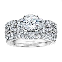 TwoBirch Bridal Set (Two Rings) in 10k Gold and Diamonds (G,I2) (2.95 tw ) - Clear