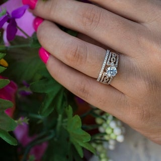 TwoBirch Bridal Set (Two Rings) in 10k Gold and Diamonds (G,I2) (1.67 tw) - Clear
