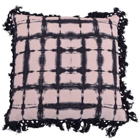 20x20 Denver Shibori Fringe Trim Pillow