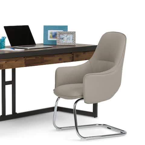 WYNDENHALL Celeste Swivel Adjustable Executive Computer C Spring Office Chair in Light Mist Grey