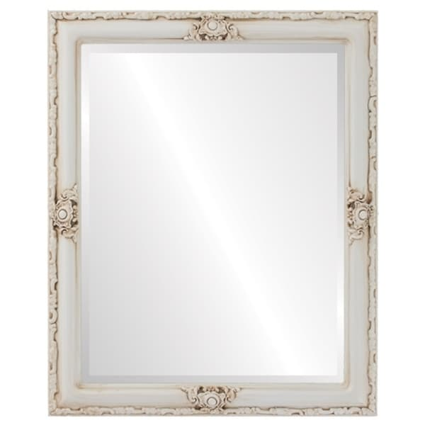 Jefferson Framed Rectangle Mirror in Antique White - Antique White