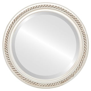 Santa Fe Framed Antique White Round Mirror (3 options available)
