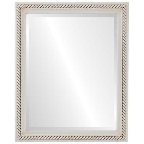 Santa Fe Framed Rectangle Mirror in Antique White - Antique White