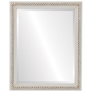 Santa Fe Framed Rectangle Mirror in Antique White - Antique White
