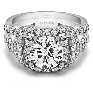 TwoBirch Bridal Set (Two Rings) in 10k Gold and Diamonds (G,I2) (2.77 tw) - Clear