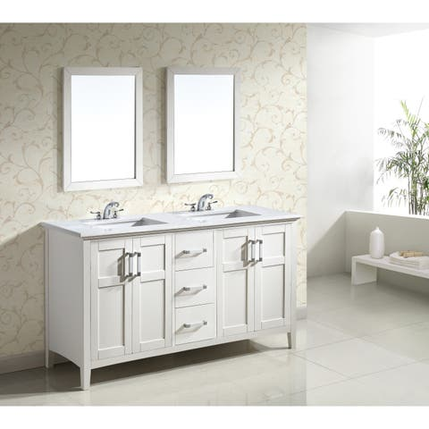 "WYNDENHALL Salem 60"" Bath Vanity with Quartz Marble Top"