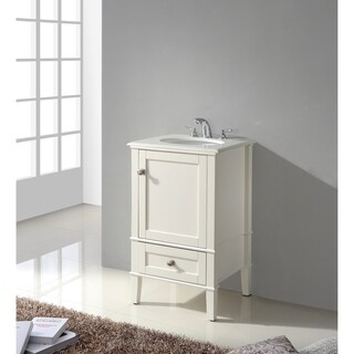 "WYNDENHALL Windham 20"" Bath Vanity with White Quartz Marble Top"