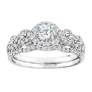 TwoBirch Bridal Set Two Rings In 14k Gold And Diamonds G I2 0 66tw