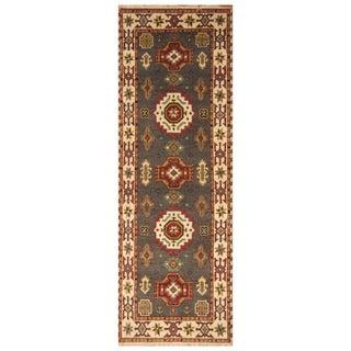 Handmade Kazak Wool Runner (India) - 2'10 x 8'3