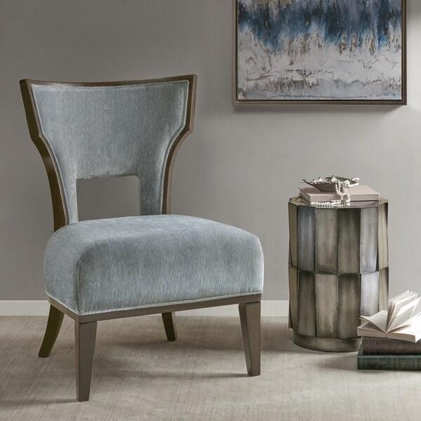 Shop Madison Park Morrison Blue Accent Chair Free