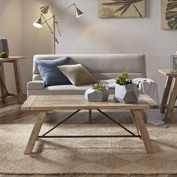 Carbon Loft Dean Natural Rectangle Coffee Table