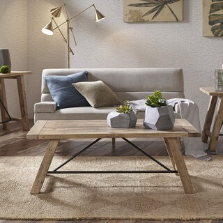 INK+IVY Sonoma Natural Rectangle Coffee Table