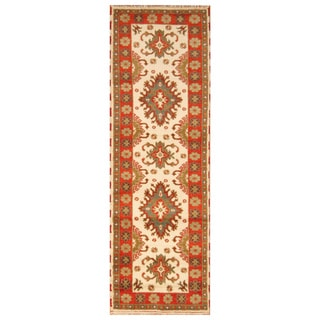 Handmade Kazak Wool Runner (India) - 2'8 x 8'2