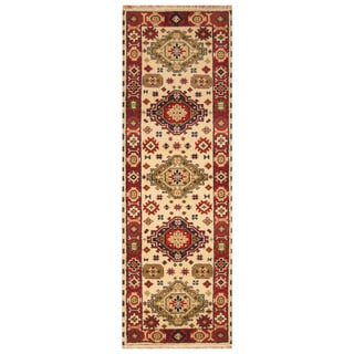 Handmade Kazak Wool Runner (India) - 2'8 x 8'4