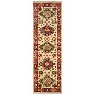 Handmade Kazak Wool Runner (India) - 2'9 x 8'3