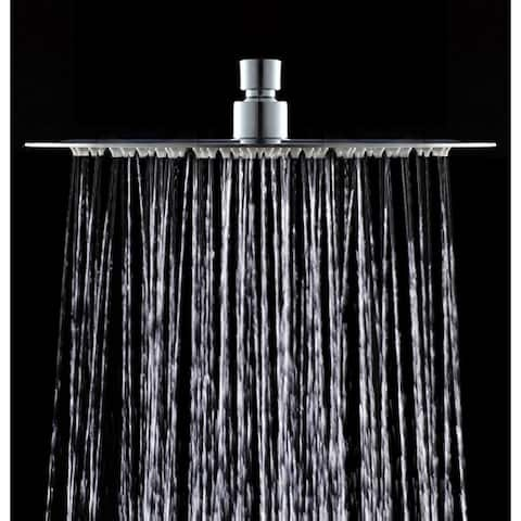 AKDY SH0094 Contemporary Rainfall Round Stainless Steel Bathroom Adjustable Shower Head