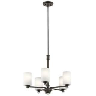 Clay Alder Home 5-light Olde Bronze LED Chandelier - Thumbnail 0