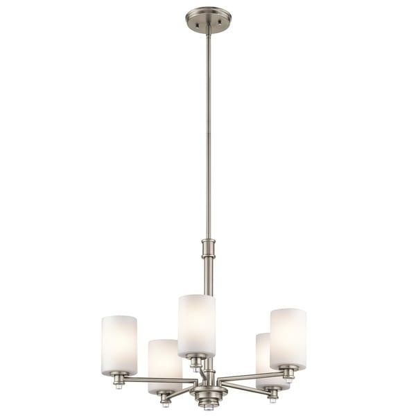 Clay Alder Home 5-light Brushed Nickel LED Chandelier