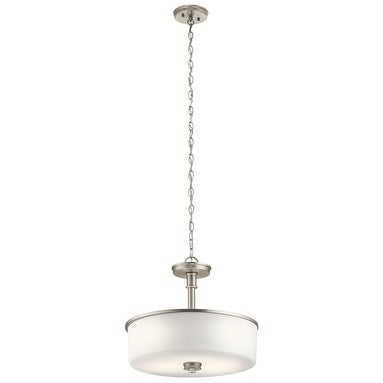 Clay Alder Home 3-light Brushed Nickel LED Pendant/Semi-Flush Mount