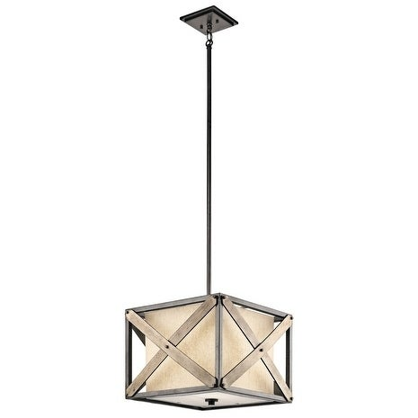 Kichler Lighting Cahoon Collection 1-light Anvil Iron Pendant/Semi-Flush Mount - anvil iron