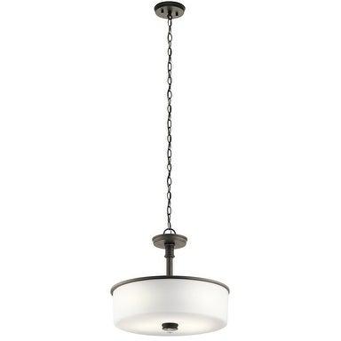 Kichler Lighting Joelson Collection 3-light Olde Bronze LED Pendant/Semi-Flush Mount - Olde Bronze