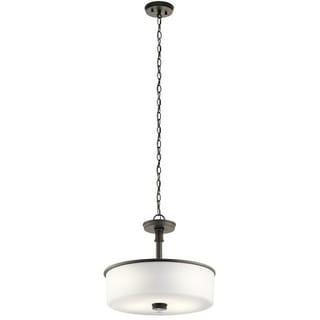 Clay Alder Home 3-light Olde Bronze LED Pendant/Semi-Flush Mount - Thumbnail 0