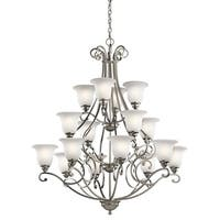 Copper Grove Damiano 16-light Brushed Nickel Chandelier
