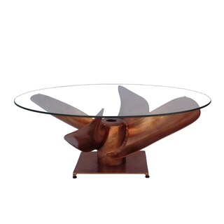 Aurelle Home Prop Nautical Copper Coffee Table
