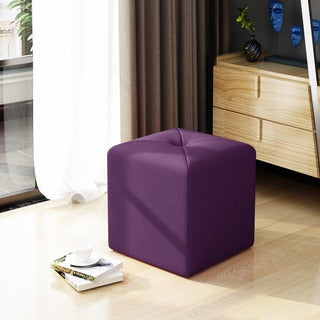 Cayla Square Fabric Ottoman by Christopher Knight Home