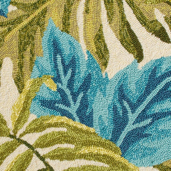 Blue Tropical Palm Leaf