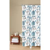 Inspired Surroundings by 1888 Mills. Paris Print Easy Care Shower Curtain