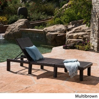 Jamaica Outdoor Wicker Chaise Lounge by Christopher Knight Home