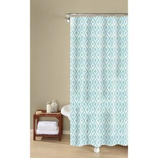 Inspired Surroundings By 1888 Mills Kalahari Ikat Easy Care Jacquard Shower  Curtain