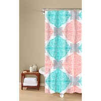 Ava Medallion Print, Textured Fabric, Easy Care, Shower Curtain Inspired Surroundings by 1888 Mills