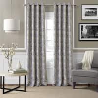 """Elrene Julianne Room Darkening Grommet Top Curtain Panel 84"""" in Grey (As Is Item)"""