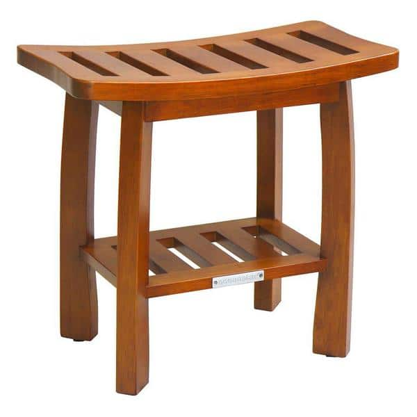 Oceanstar Solid Wood Spa Shower Bench With Storage
